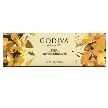数量限定 訳あり GODIVA (ゴディバ) タブレット ダークヘーゼルナッツ 300g 全包装