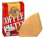 【カリタ】コーヒーフィルターみさらし102濾紙2〜4人用/100枚入10P23Apr09