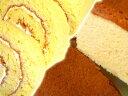 ふわふわの米ロールケーキと豆乳チーズケーキとコーヒー