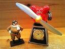 【紅の豚】★紅の豚★ジオラマ置き時計★サボイアSー21★