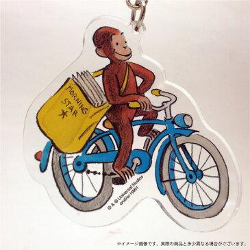 おさるのジョージ アクリルキーホルダー 自転車 CG-KH012 【キーホルダー】 【ジョージ】 【NHK】 【キャラクターグッズ】 【RCP】
