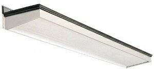 昔ながらの普通のひさしOK1スタンダード庇1260(出巾12寸長さ6尺1950mm)後付用キャップ付