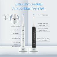 電動歯ブラシ 音波電動歯ブラシ 無接点USB充電 大容量電池 五つモード タイマー機能 替えブラシ2本 IPX7防水 国内品質保証とサービス ホワイト