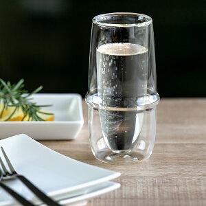 シャンパングラス 160ml KINTO キントー クロノス KRONOS ダブルウォール 二重構造 ガラス製