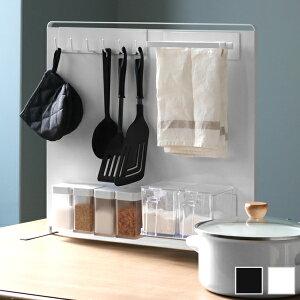 キッチン自立式スチールパネル タワー 縦型 512 キッチンラック tower ホワイト ブラック