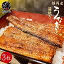 うなぎ 国産 蒲焼き ウナギ 鰻 3枚セット 冷凍 長焼き ...