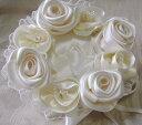 ローズのリングピロー(シャンパンゴールド)完成品【ウェディング 結婚式 結婚祝い】【あす楽】