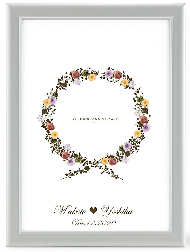 メッセージシールのウェルカムボード【フラワーリースローズ】【結婚式ウェディング結婚祝い