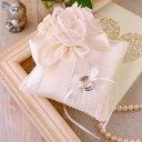 【リングピロー手作りキット】レースブーケのベール付きリングピロースクエア手作りキット(シャンパンゴールド)【結婚式 花嫁DIY 手芸キット】