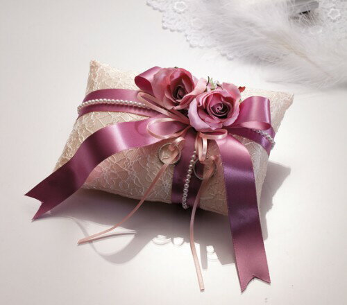 【リングピロー手作りキット】ドラマティックリングピロー(フェアリーローズ・ライラック)【結婚式 ウェディング 花嫁diy】