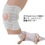 【2枚までコンパクト便】軽量メッシュクロスサポーター 1枚入 薄手 日本製 膝の固定 膝用 ひざサポーター 膝のサポーター H0798