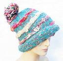 カラー ニット帽子