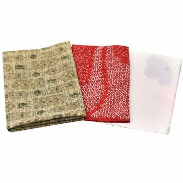 はぎれ 着物 ハギレ リサイクル着物 はぎれ ハギレ 古布 着物 生地 小物 和布 正絹 絞り ウール 3枚入りセット 30cm×35cm つるしびな つまみ細工 kka2858