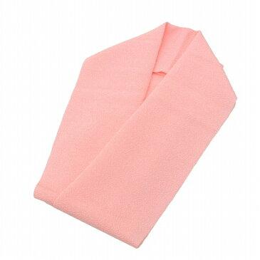 半衿 カラー ピンク 色半衿 半襟 はんえり ポリエステル 洗える ちりめん spo6751 【新品】【着物ひととき】