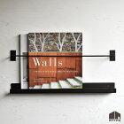 マガジンラックMZR-Wall-001/アイアン/黒色/ダークグレー/ミニマリストスタイル/インダストリアルデザイン/壁付けマガジンラック/ウォールラック/壁付け/壁掛け/DIY/日本製/国産/自社工場直販