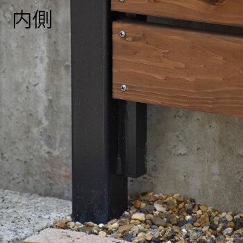 sutun-001アイアン柱sutun[ストゥン]エンドLR2本セット/アイアン支柱/ブラック/ホワイト/外構/フェンス//目隠しウッドフェンス/ボーダーフェンス/エクステリア//造園/庭/庭造り/ガーデニング/駐車場/門壁//本格派志向/プロ仕様/セミオーダー/