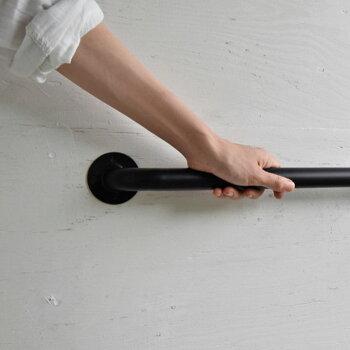 pip-ah-wall-s-001壁付け用ハンガー傘立てSsize/幅37cm/アイアン/黒色/ミニマリストスタイル/インダストリアルデザイン/アイアンのカサ立て/ウォールアンブレラハンガー/壁掛け用/DIY/おしゃれな玄関インテリア小物/日本製/国産/自社工場直販