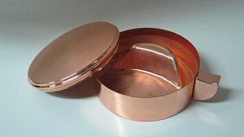 銅製墨池(小)