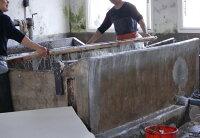 中国古式製法で漉いた紙。