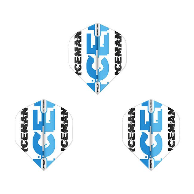 Red Dragon(レッドドラゴン) Hardcore Gerwyn Price White&Blue Logo Dart Flights スタンダード ガーウェン・プライス選手モデル <F6476> (ダーツ フライト)画像