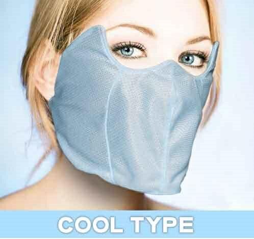 UVカットフェイスマスク クールタイプ