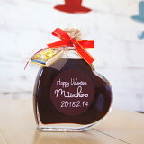 【遅れてゴメン バレンタイン】名入れラベルのスウィートワイン ハートボトル 200mlおまけチョコレート付き 名前入り バレンタインのプレゼントに