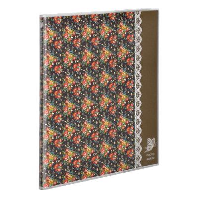 レイアウトフリー♪簡単に貼り直せるスグレモノHAKUBA フリーアルバム M カラー:ハナ2 ブラウン