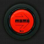 【MOMO(モモ)正規品】ホーンボタンモモレッド【HB-04】