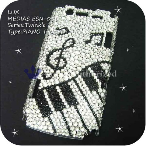 GALAXY Note2 SC-02Eケースカバー 豪華スワロフスキーデコ電PIANO-LUX-GNOTE2