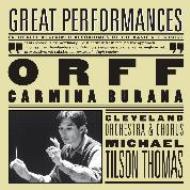 Orff オルフ / カルミナ・ブラーナ ティルソン・トーマス&クリーヴランド管、ブレゲン、リーゲル、他 輸入盤 【CD】