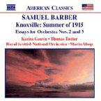 Barber バーバー / ノックスヴィル、1915年の夏 / 管弦楽のためのエッセー第2番 / 第3番 / 他 オールソップ / ロイヤル・スコティッシュ管 / ゴーヴィン / トロッター 輸入盤 【CD】