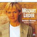 Mozart モーツァルト / 歌曲集 バーバラ・ボニー、ジェフリー・...