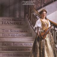ヘンデル/ViolinSonatas:Barton(Vn),Schrader(Cemb),Rozendaal(Vc)輸入盤【CD】
