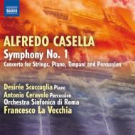 カゼッラ、アルフレード(1883-1947)/Sym,1,ConcertoForPiano&Percussion:LaVecchia/RomeSoScuccuglia(P)Ceravolo(Perc)輸入盤【CD】