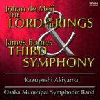 【送料無料】 De Meij: The Lord Of The Rings(Sym.1), Barnes: Sym, 3, : 秋山和慶 / 大阪市音楽団 【CD】