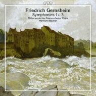 【送料無料】ゲルンスハイム(1839-1916)/Sym,1,3,:Baumer/MainzStateO輸入盤【CD】