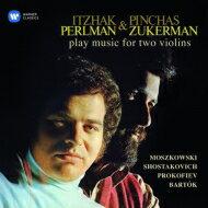 【送料無料】 『2つのヴァイオリンのための作品集〜バルトーク、ショスタコーヴィチ、プロコフィエフ、モシュコフスキ』 パールマン、ズッカーマン(2CD) 【CD】