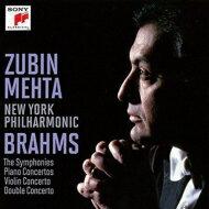 【送料無料】 Brahms ブラームス / 交響曲全集、協奏曲全集 メータ&ニューヨーク・フィ…