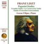 Liszt リスト / パガニーニによる超絶技巧練習曲集、パガニーニによる大練習曲(ピアノ曲全集第42巻) ゴラン・フィリペツ 輸入盤 【CD】