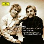 Brahms ブラームス / ピアノ協奏曲第1番:クリスティアン・ツィマーマン(ピアノ)、サイモン・ラトル指揮&ベルリン・フィルハーモニー管弦楽団 (180グラム重量盤レコード) 【LP】
