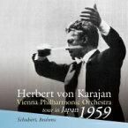【送料無料】 Brahms ブラームス / ブラームス:交響曲第4番、シューベルト:交響曲第8番『未完成』、他 ヘルベルト・フォン・カラヤン&ウィーン・フィル(1959年日比谷公会堂ライヴ) 輸入盤 【CD】