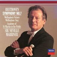 Beethoven ベートーヴェン / 交響曲第7番、ウェリントンの勝利 ネヴィル・マリナー&アカデミー室内管弦楽団 【Hi Quality CD】