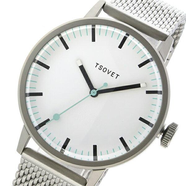 ソベット TSOVET SVT-SC38 クオーツ ユニセックス 腕時計 SC111501-40 ホワイト