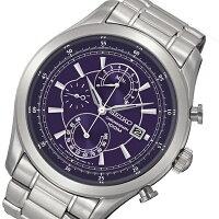 セイコーSEIKOクオーツクロノメンズ腕時計SPC163P2ネイビー