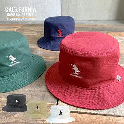 《CALIFORNIAHAVEANICETIME!》カリフォルニアハブアナイスタイムBUCKETHATCLASSIC(KKH-080)バケットハットメンズレディースブランド男女兼用ブランドクマ刺繍ワンポイント帽子アウトドアキャンプ