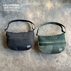 《CALIFORNIAHAVEANICETIME!》カリフォルニアハブアナイスタイムHALFMOONSHOULDERBAG(MHB-009)リメイクリサイクルミリタリーバッグショルダーバッグメンズレディースブランド