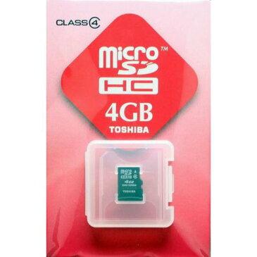 【期間限定P5倍】【メール便発送可能】TOSIHA/東芝 マイクロSDHCカード4GB[microSDメモリーカード] SD-ME004GS 【RCP】