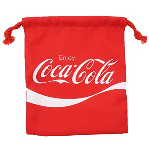 巾着袋[コカコーラ]マチ付き きんちゃくポーチ/2020SS-A Coca Cola