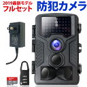 防犯カメラ 屋外 録画機能付き トレイルカメラ 5%還元対象 キャッシュレス ワイヤレス 屋内 フルセット ラッキーシール ブラック 人感センサー フルHD 動き検知 1080P 防水 赤外線LEDライト搭載 暗視 日本語説明書・保証書付き 黒