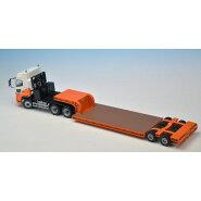 ケンクラフト1/5016輪中低床重量物運搬用トレーラ(内宮運輸オレンジ)KK1001U